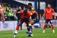 17th October 2020; Kenilworth Road, Luton, Bedfordshire, England; English Football League Championship Football, Luton Town versus Stoke City; Pelly Ruddock of Luton Town competes for the ball with Mikel John Obi of Stoke City