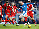 Kenny Miller tracks into the box