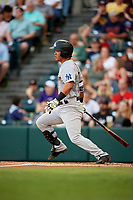 Trenton Thunder catcher Chace Numata (6) follows through on a swing during a game against the Richmond Flying Squirrels on May 11, 2018 at The Diamond in Richmond, Virginia.  Richmond defeated Trenton 6-1.  (Mike Janes/Four Seam Images)