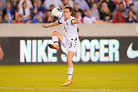 HOUSTON, TX - FEBRUARY 03: Kelly O'Hara #5 of the United States traps the ball during a game between Costa Rica and USWNT at BBVA Stadium on February 03, 2020 in Houston, Texas.