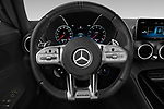 Car pictures of steering wheel view of a 2020 Mercedes Benz AMG-GT - 3 Door Coupe Steering Wheel