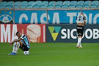28th August 2021; Arena do Gremio, Porto Alegre, Brazil; Brazilian Serie A, Gremio versus Corinthians; Ruan and Vanderson of Gremio sit frustrated after the match