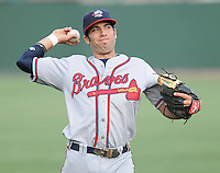 May 15, 2009: Infielder Ryan Barba (6) of the Rome Braves, Class A affiliate of the Atlanta Braves, in a game against the Greenville Drive at Fluor Field at the West End in Greenville, S.C. Photo by: Tom Priddy/Four Seam Images