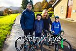 The Marshall family from Killarney enjoying a stroll in Killarney National Park on Saturday. L to r: Mark, James, Christine and Ewan Marshall.