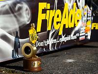 May 6, 2018; Commerce, GA, USA; Detailed view of the Wally trophy won by NHRA top fuel driver Leah Pritchett following the Southern Nationals at Atlanta Dragway. Mandatory Credit: Mark J. Rebilas-USA TODAY Sports
