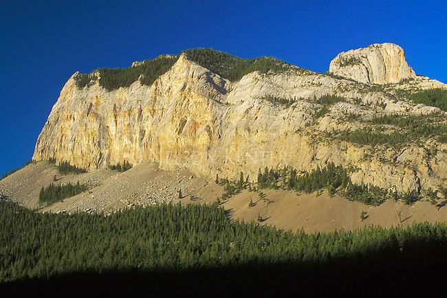 Rugged rocky mountains of the east front in Montana