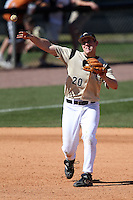 March 7, 2010:  Third Baseman Chris Taladay of the Central Florida Knights during game at Jay Bergman Field in Orlando, FL.  Central Florida lost to Central Michigan by the score of 7-4.  Photo By Mike Janes/Four Seam Images
