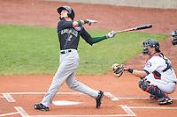 Kane County Cougars outfielder Albert Almora #5 bats during a game against the Cedar Rapids Kernels at Veterans Memorial Stadium on June 9, 2013 in Cedar Rapids, Iowa. (Brace Hemmelgarn/Four Seam Images)