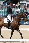 April 24, 2014: Pirate and Meghan O'Donoghue compete in Dressage at the Rolex Three Day Event in Lexington, KY at the Kentucky Horse Park.  Candice Chavez/ESW/CSM