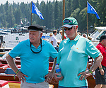 A photograph taken during the Concours d'Elegance Wood Boat Show at Lake Tahoe on Friday, August 10, 2018.
