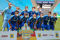 15th March 2020, Porto Alegre, State of Rio Grande do Sul, Brazil; Brazilian football league, Gremio versus Sao Luiz;  Gremio players in squad picture all wearing face masks