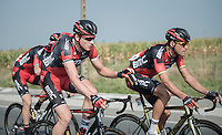 Stefan Küng (SUI/BMC) bringing water bottles up to the front to Greg Van Avermaet (BEL/BMC)<br /> <br /> 12th Eneco Tour 2016 (UCI World Tour)<br /> stage 3: Blankenberge-Ardooie (182km)