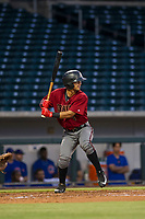 AZL Diamondbacks Walter Higuera (1) at bat against the AZL Cubs on August 11, 2017 at Sloan Park in Mesa, Arizona. AZL Cubs defeated the AZL Diamondbacks 7-3. (Zachary Lucy/Four Seam Images)