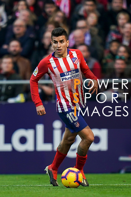 Angel Correa of Atletico de Madrid in action during the La Liga 2018-19 match between Atletico de Madrid and Deportivo Alaves at Wanda Metropolitano on December 08 2018 in Madrid, Spain. Photo by Diego Souto / Power Sport Images