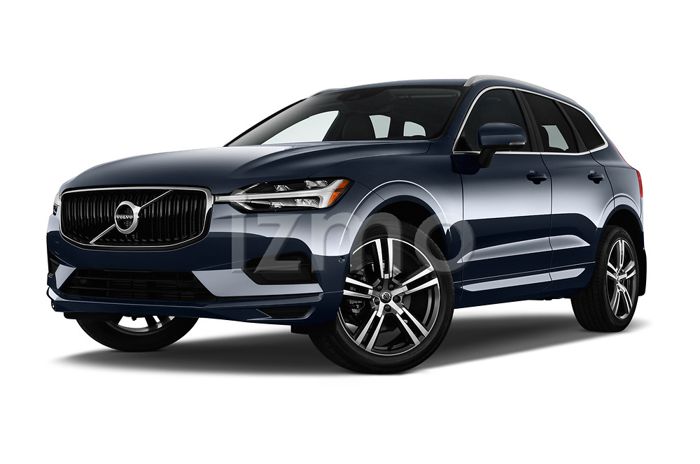 Stock pictures of low aggressive front three quarter view of a 2018 Volvo XC60 T5 Momentum 4WD 5 Door SUV