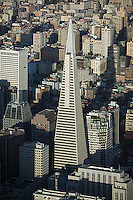 aerial photograph Transamerica Pyramid skyscrapers San Francisco