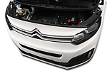 Car stock 2017 Citroen Space Tourer Business 4 Door Passenger Van engine high angle detail view