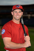 Clearwater Threshers outfielder Aaron Brown (33) poses for a photo before a game against the Tampa Yankees on April 21, 2015 at Bright House Field in Clearwater, Florida.  Clearwater defeated Tampa 3-0.  (Mike Janes/Four Seam Images)