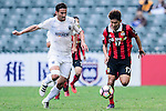 FC Seoul Forward Yun Il Lok (r) is chased by Auckland City Midfielder Mario Bilen (l) during the 2017 Lunar New Year Cup match between Auckland City FC (NZL) vs FC Seoul (KOR) on January 28, 2017 in Hong Kong, Hong Kong. Photo by Marcio Rodrigo Machado/Power Sport Images
