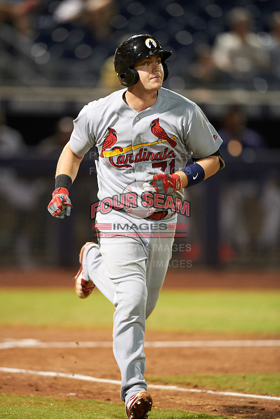 Glendale Desert Dogs Carson Kelly (71), of the St. Louis Cardinals organization, during a game against the Peoria Javelinas on October 18, 2016 at Peoria Stadium in Peoria, Arizona.  Peoria defeated Glendale 6-3.  (Mike Janes/Four Seam Images)