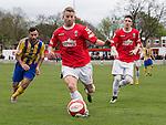 © Joel Goodman - 07973 332324 . 25/04/2015 . Salford , UK . Grant Spencer on the ball . Evostick League champions , Salford FC , play Osset Town , in Salford . Photo credit : Joel Goodman