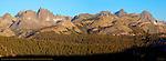 Minaret Sunrise, Minarets, Mount Ritter, Banner Peak, Ritter Range, Sierra Nevada Mountains, California