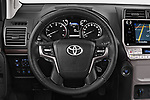 Car pictures of steering wheel view of a 2018 Toyota Land-Cruiser-150 Style 3 Door SUV Steering Wheel