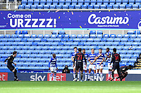 James Garner of Watford left fires a free kick through the Reading wall during Reading vs Watford, Sky Bet EFL Championship Football at the Madejski Stadium on 3rd October 2020