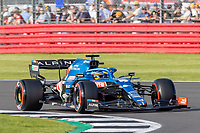16th July 2021; Silverstone Circuit, Silverstone, Northamptonshire, England; Formula One British Grand Prix,  and Qualifying; Alpine F1 Team driver Fernando Alonso in his Alpine A521 Renault E-Tech 20B