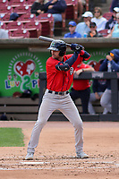 Cedar Rapids Kernels first baseman Edouard Julien (25) at bat during a game against the Wisconsin Timber Rattlers on September 8, 2021 at Neuroscience Group Field at Fox Cities Stadium in Grand Chute, Wisconsin.  (Brad Krause/Four Seam Images)