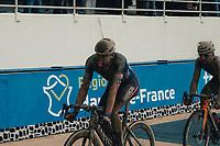 3rd October 2021, Paris–Roubaix Mens Cycling tour;  Mathieu Van Der. Poel during the Paris–Roubaix which is famous for its uneven cobblestone course.