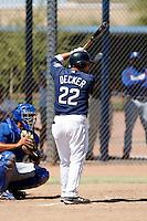 Jaff Decker - San Diego Padres - 2009 spring training.Photo by:  Bill Mitchell/Four Seam Images