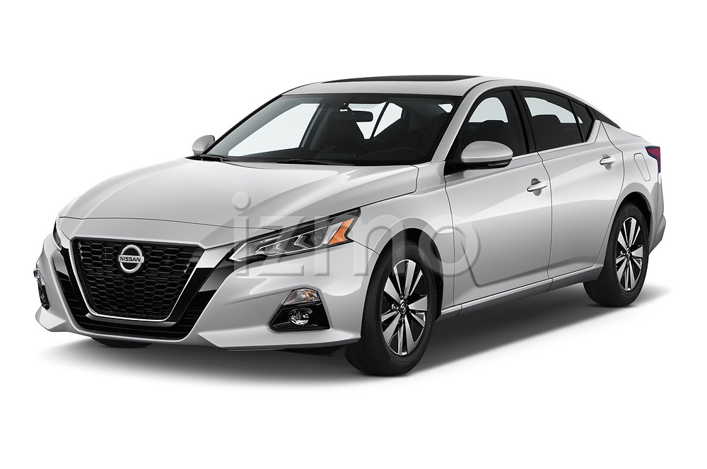 2020 Nissan Altima SV 4 Door Sedan Angular Front stock photos of front three quarter view