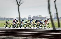 early breakaway group<br /> <br /> 79th Gent-Wevelgem 2017 (1.UWT)<br /> 1day race: Deinze › Wevelgem - BEL (249km)