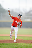 Pitcher Nicholas Rich (10) during the Perfect Game National Underclass East Showcase on January 23, 2021 at Baseball City in St. Petersburg, Florida.  (Mike Janes/Four Seam Images)