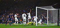 9th October 2021; Hampden Park, Glasgow, Scotland; FIFA World Cup football qualification, Scotland versus Israel;  Munas Dabbur of Israel makes it 1-2 in the 32nd minute from a disputed cross and handball