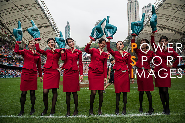 Entretainment event during the Cathay Pacific / HSBC Hong Kong Sevens at the Hong Kong Stadium on 29 March 2014 in Hong Kong, China. Photo by Xaume Olleros / Power Sport Images