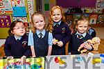 Juliette Egan, Emily Flynn, Dalia Harrington and Skye O'Connor enjoying their first day at Killury NS in Causeway on Thursday.