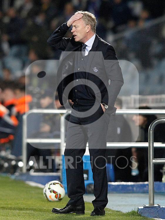 Real Sociedad's coach David Moyes during La Liga match.March 16,2015. (ALTERPHOTOS/Acero)