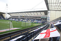 A general view of Deepdale the home of Preston North End<br /> <br /> Photographer Mick Walker/CameraSport<br /> <br /> The EFL Sky Bet Championship - Preston North End v Cardiff  City - Saturday 27th June 2020 - Deepdale Stadium - Preston<br /> <br /> World Copyright © 2020 CameraSport. All rights reserved. 43 Linden Ave. Countesthorpe. Leicester. England. LE8 5PG - Tel: +44 (0) 116 277 4147 - admin@camerasport.com - www.camerasport.com