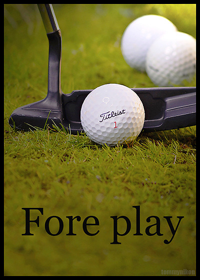 Mock ad for Titleist