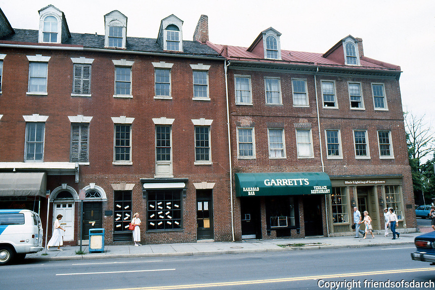 D.C.: Georgetown--Commercial Buildings, 1810. 3005-3011 M St. NW.  Photo  '85.