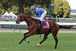 October 02, 2016, Chantilly, FRANCE - One Foot in Heaven with Cristian Demuro up at the Qatar Prix de'l Arc de Triomphe (Gr. I) at  Chantilly Race Course  [Copyright (c) Sandra Scherning/Eclipse Sportswire)