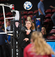 STANFORD, CA - December 1, 2017: Erin Lindsey at Maples Pavilion. The Stanford Cardinal defeated the CSU Bakersfield Roadrunners 3-0 in the first round of the NCAA tournament.