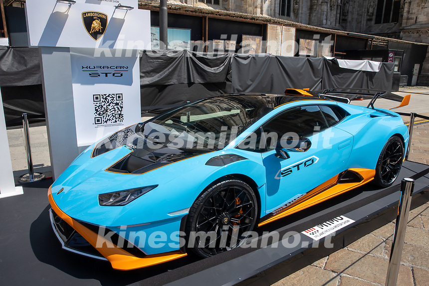 Lamborghini Huracàn STO - MILANO, ITALY, the Milan Monza Motor Show, from 10th to 13th June 2021 in Milan and Monza and will present the news of the 60 participating car and motorcycle manufacturers. With a democratic format, in which brands will exhibit their cars on equal stands, MIMO wants to give a restart signal for the world of fair and the automotive sector, with a free access and safe exhibition.