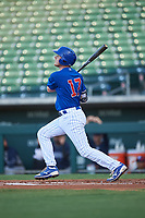 AZL Cubs 1 Ryan Reynolds (17) at bat during an Arizona League game against the AZL Padres 1 on July 5, 2019 at Sloan Park in Mesa, Arizona. The AZL Cubs 1 defeated the AZL Padres 1 9-3. (Zachary Lucy/Four Seam Images)