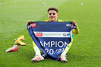 1st May 2021; Carrow Road, Norwich, Norfolk, England, English Football League Championship Football, Norwich versus Reading; Max Aaron of Norwich City celebrates winning the EFL championship