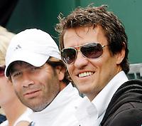 29-6-07,England, Wimbldon, Tennis, John van Lottum(R) en Glen Schaap twee kandidaat coaches voor Michaella Krajicek