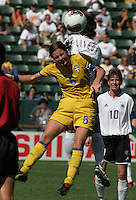Malin Mostroem, Germany 2-1 over Sweden at the  WWC 2003 Championships.