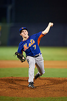 Pitcher Matt Cronin (7) of Navarre High School in Navarre, Florida playing for the New York Mets scout team during the East Coast Pro Showcase on July 28, 2015 at George M. Steinbrenner Field in Tampa, Florida.  (Mike Janes/Four Seam Images)